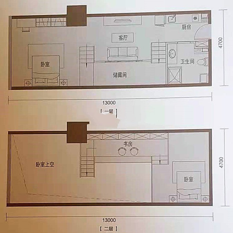 F1 3室1厅1卫1厨 建面84㎡