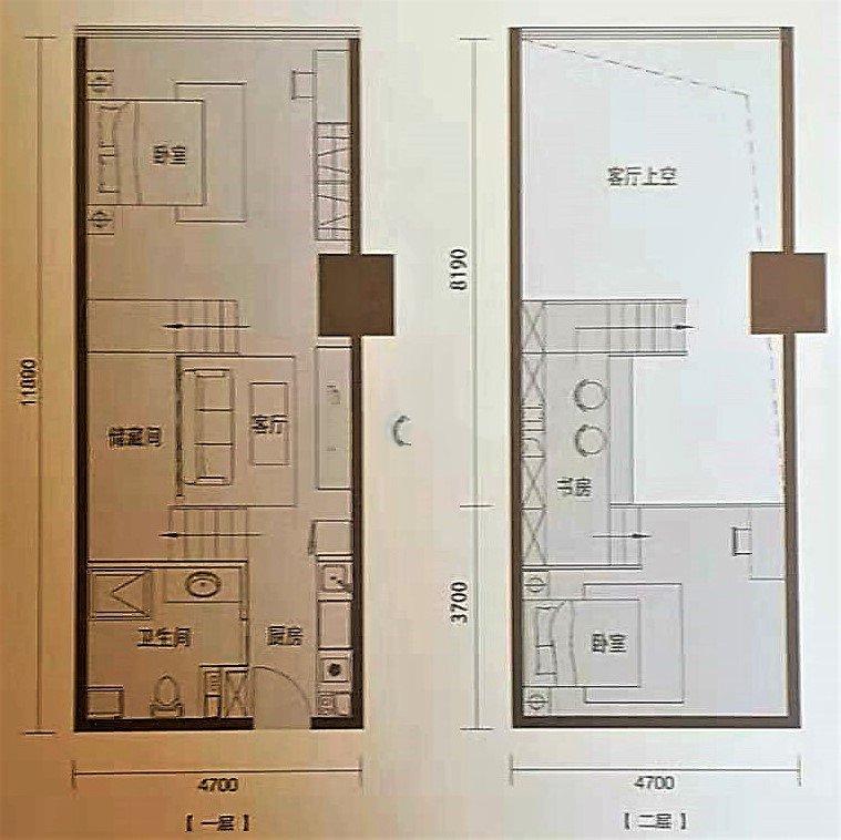 C1 3室1厅1卫1厨建面76㎡