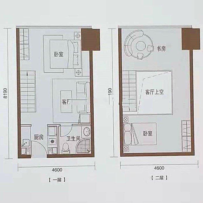 D1 3室1厅1卫1厨 建面54㎡