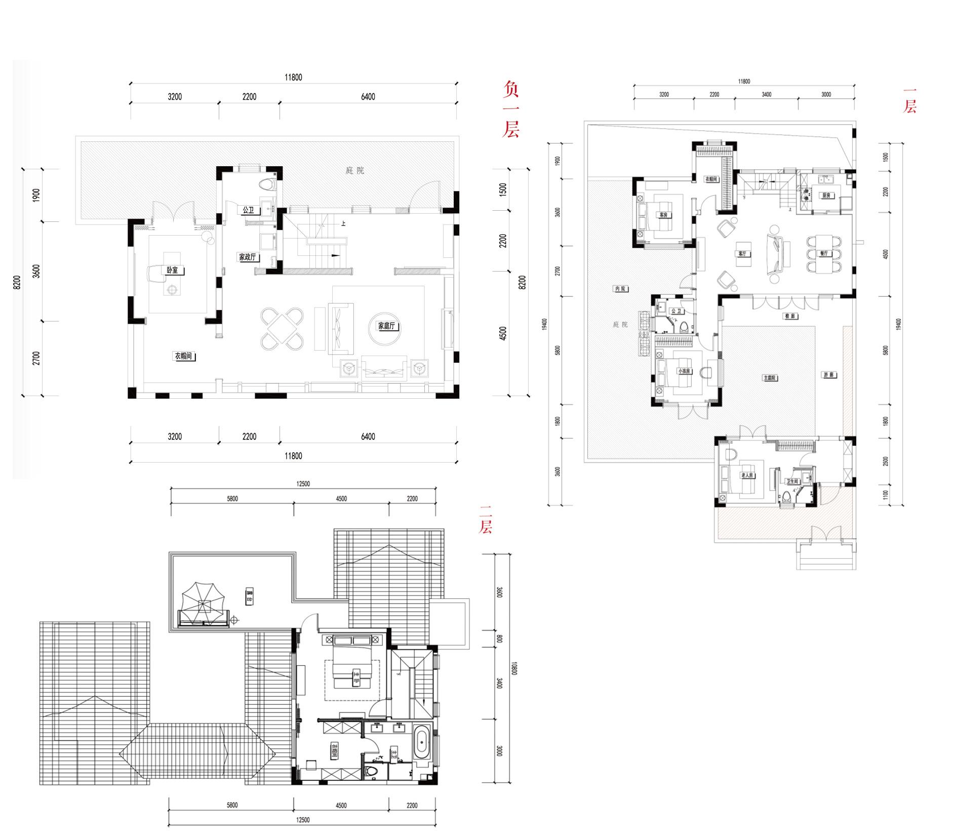 别墅B1 5室3厅4卫1厨 建面266㎡