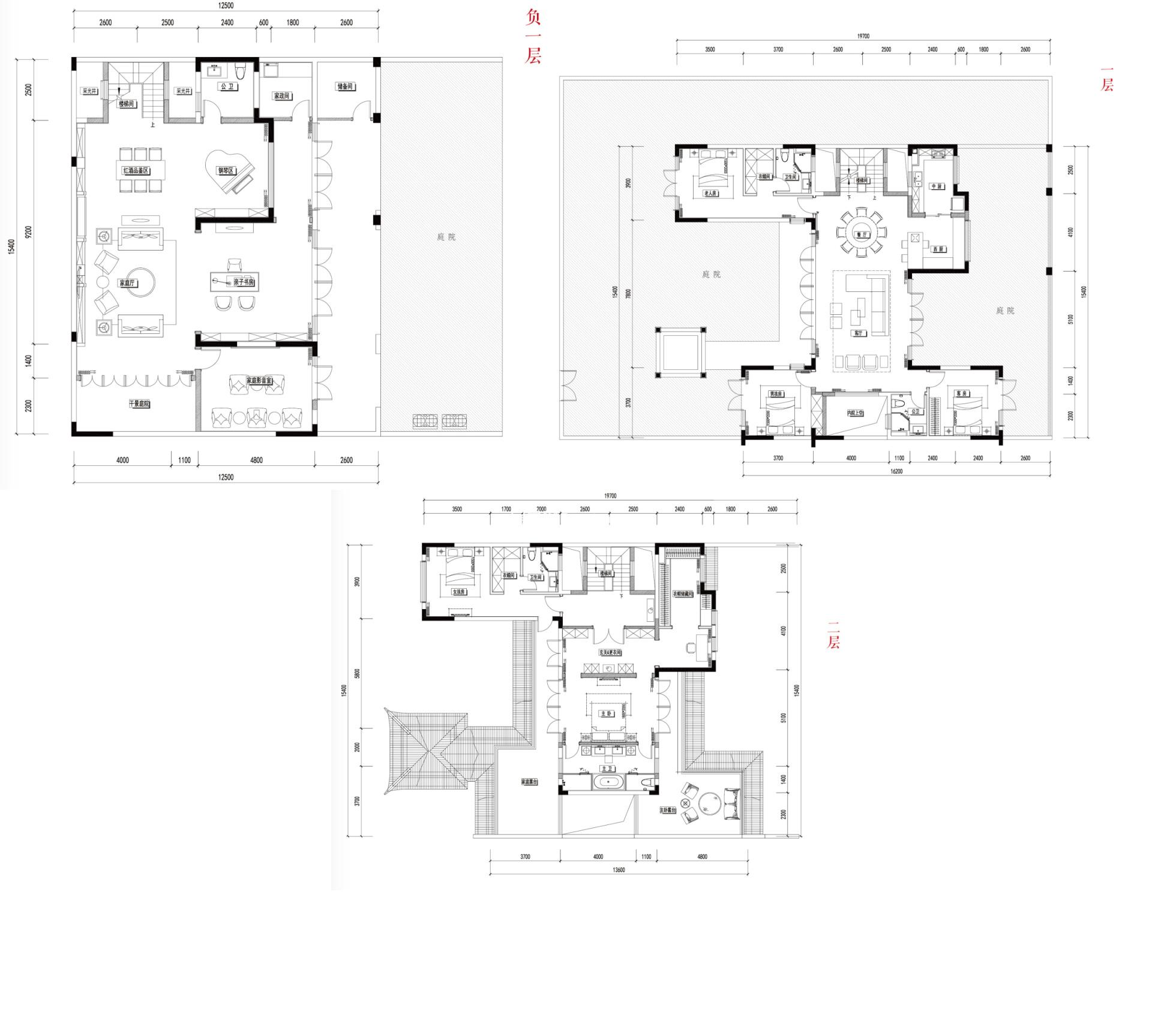别墅D1 5室3厅5卫1厨建面450㎡