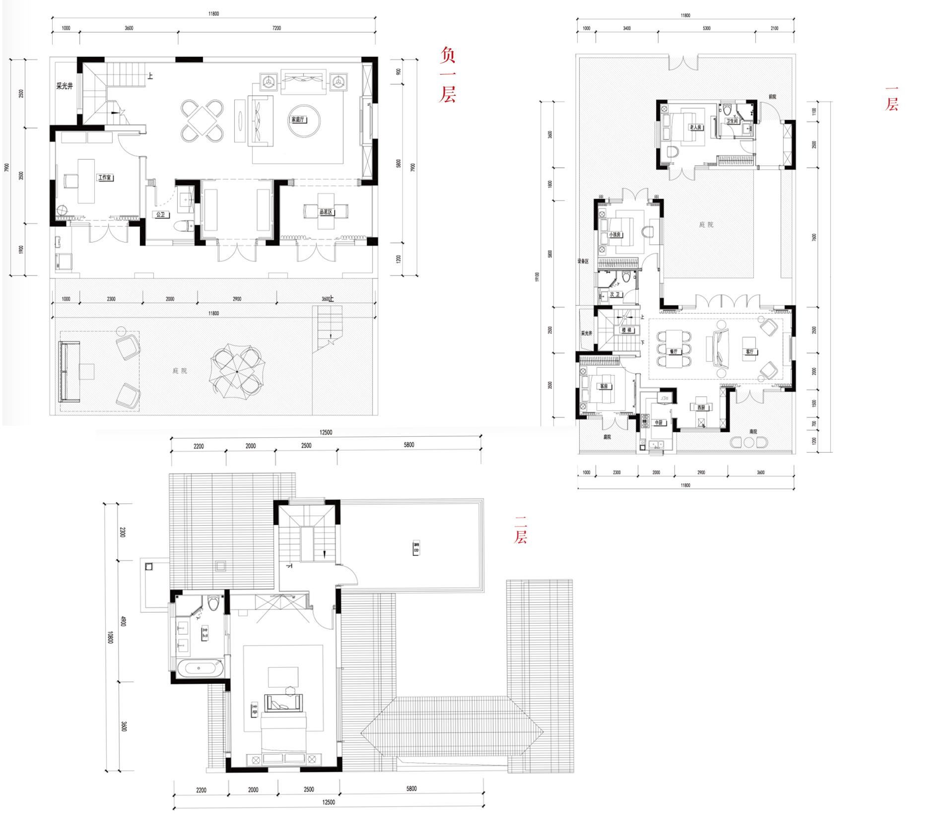 别墅B3  4室3厅4卫1厨 建面265㎡