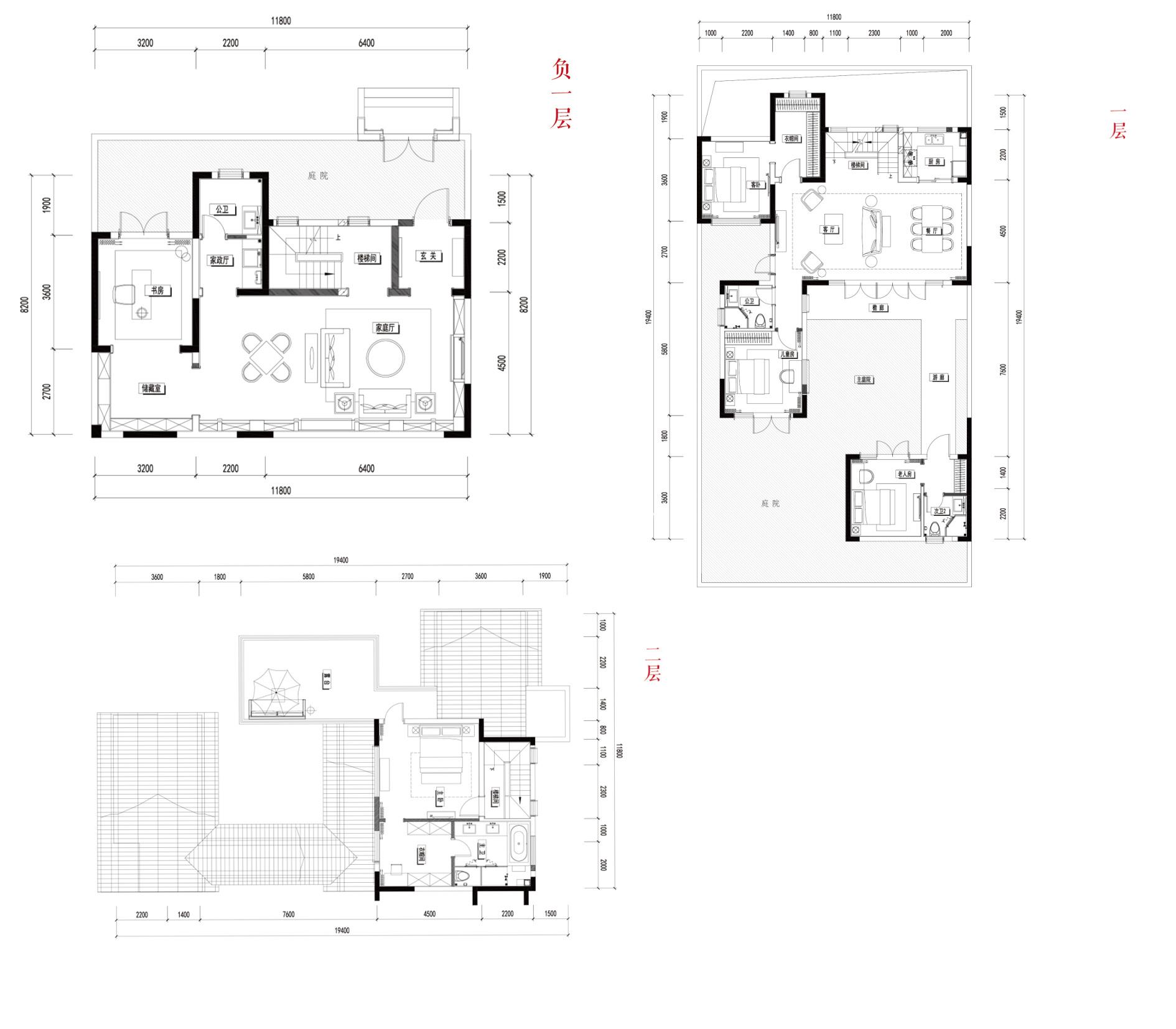 别墅B2  4室3厅4卫1厨 建面240㎡