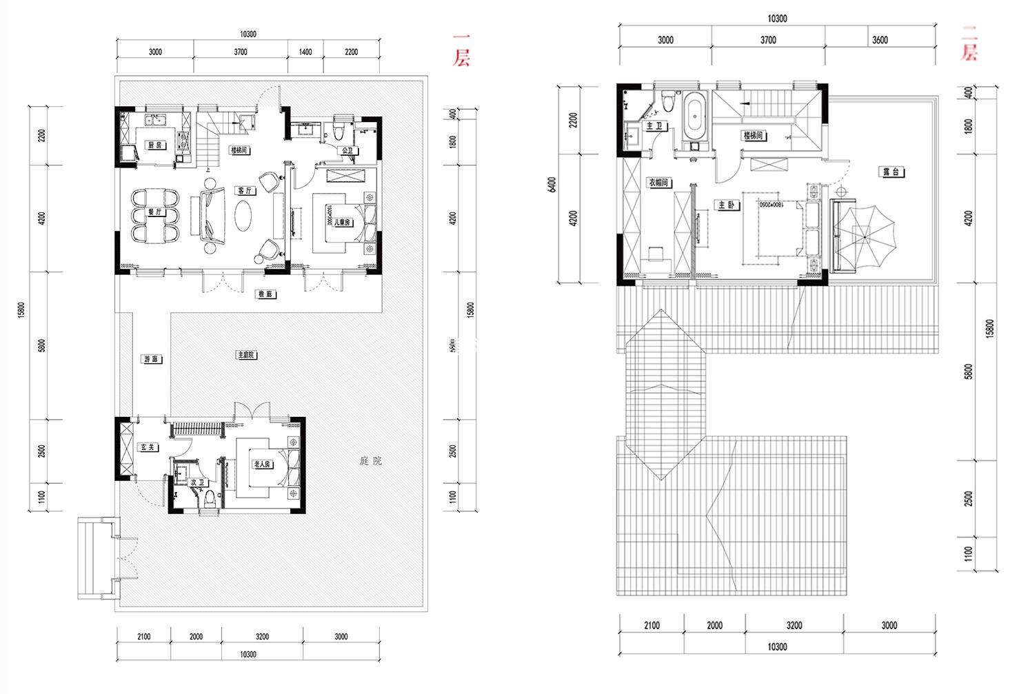 别墅A1 3室2厅3卫1厨 建面149㎡