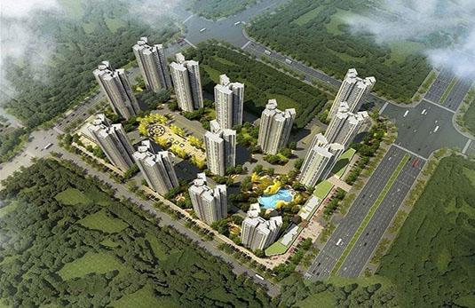 碧桂园滨海城鸟瞰图