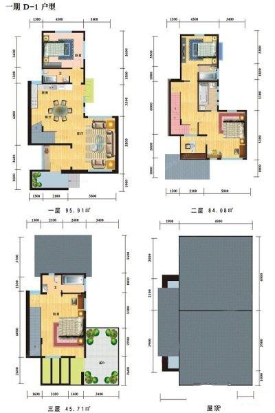 一期D-1户型居室:4室2厅5卫1厨建筑面积:225.70㎡