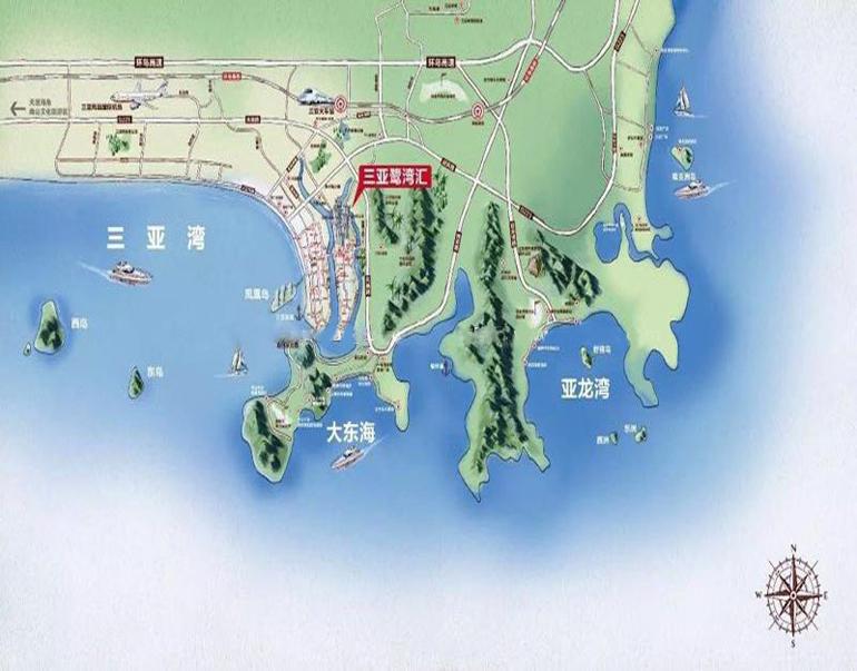 鹭湾汇交通图
