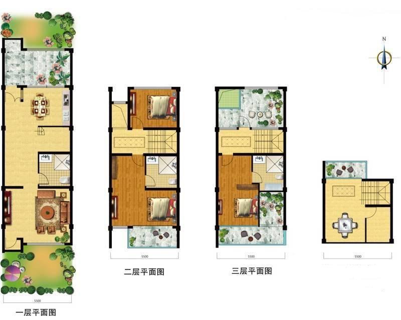 印雪斋2栋102室户型  建面206.00㎡