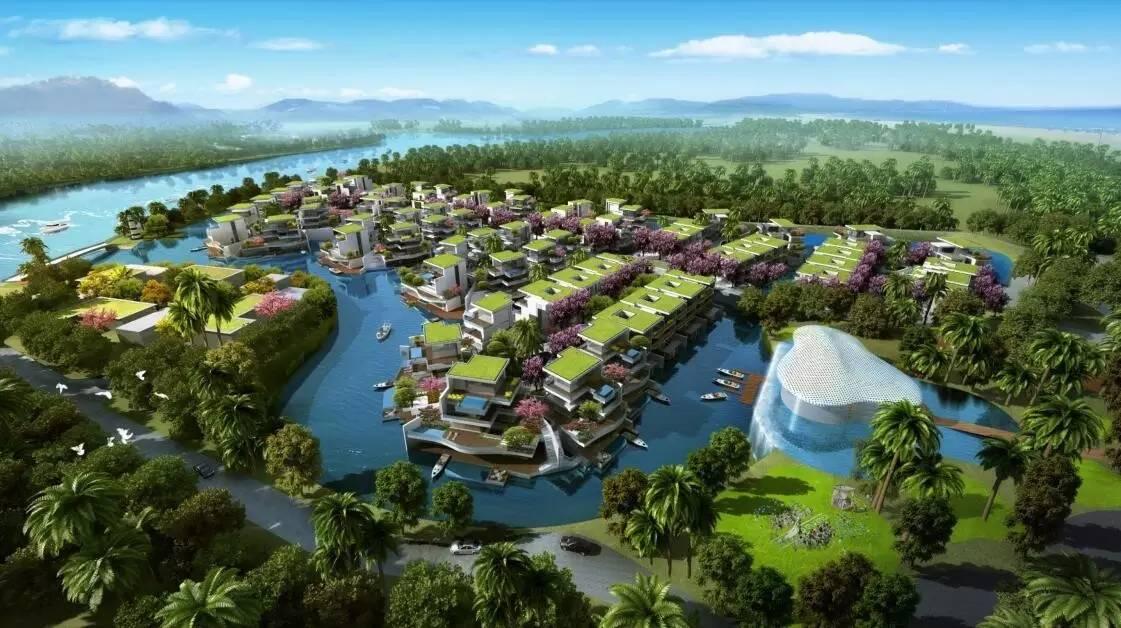 三亚国美海棠湾96栋游艇别墅呈岛屿式布局 尚未开盘