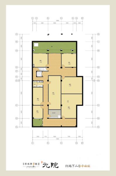 Ⅱ期-九院--F1户型一层平面图 4室3厅5卫1厨 建筑面积:246.00㎡