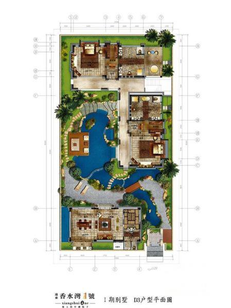Ⅰ期别墅--D3户型 3室2厅2卫1厨 建筑面积:270.00㎡