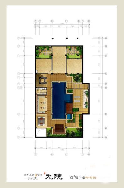 Ⅱ期-九院--E2'户型一层平面图 4室3厅5卫1厨 建筑面积:246.00㎡