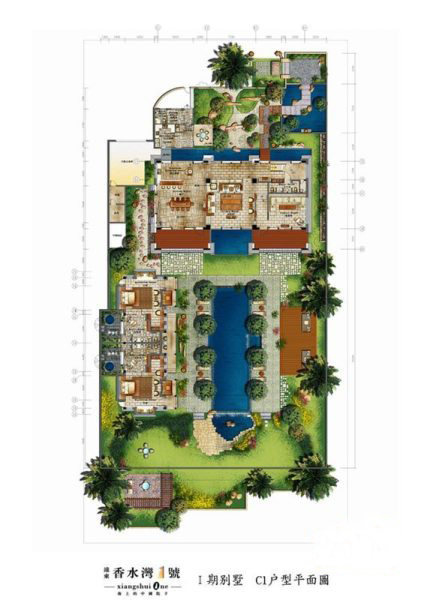 Ⅰ期别墅 4室2厅5卫1厨 建筑面积:675.18㎡