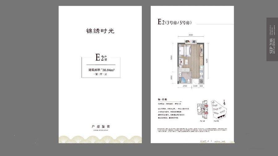 E2  1室1厅1卫  建面39㎡