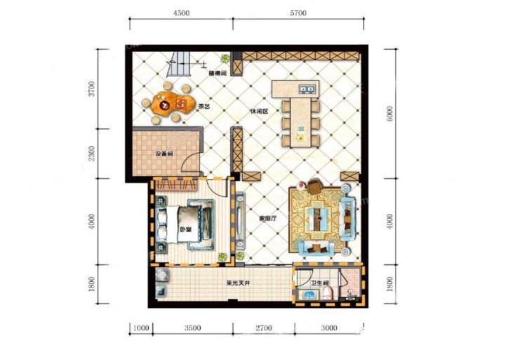 A3a私墅户型 5室4厅5卫1厨 建面311.40㎡(负一层)
