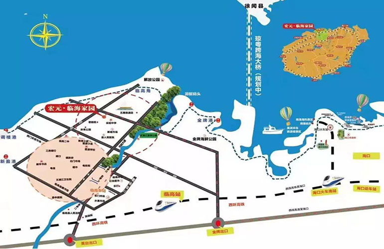 临海家园交通图