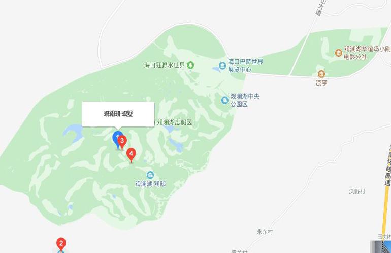 观澜湖观墅交通图