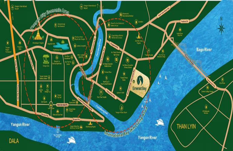 Emerald bay翡翠湾交通图