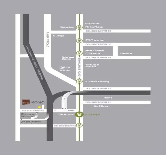 The Niche Mono交通图