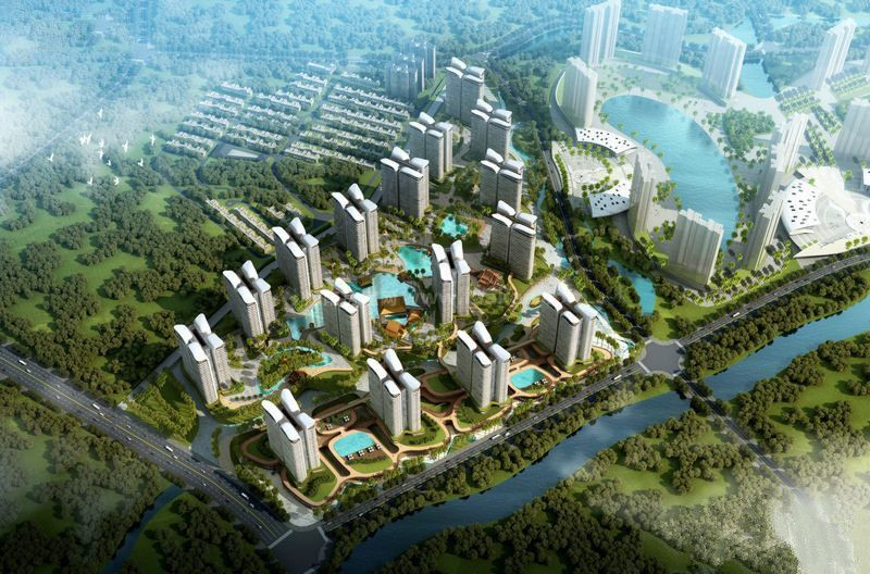三亚 海韵半岭温泉主力户型为建面270㎡-914㎡的3居-9居别墅在售