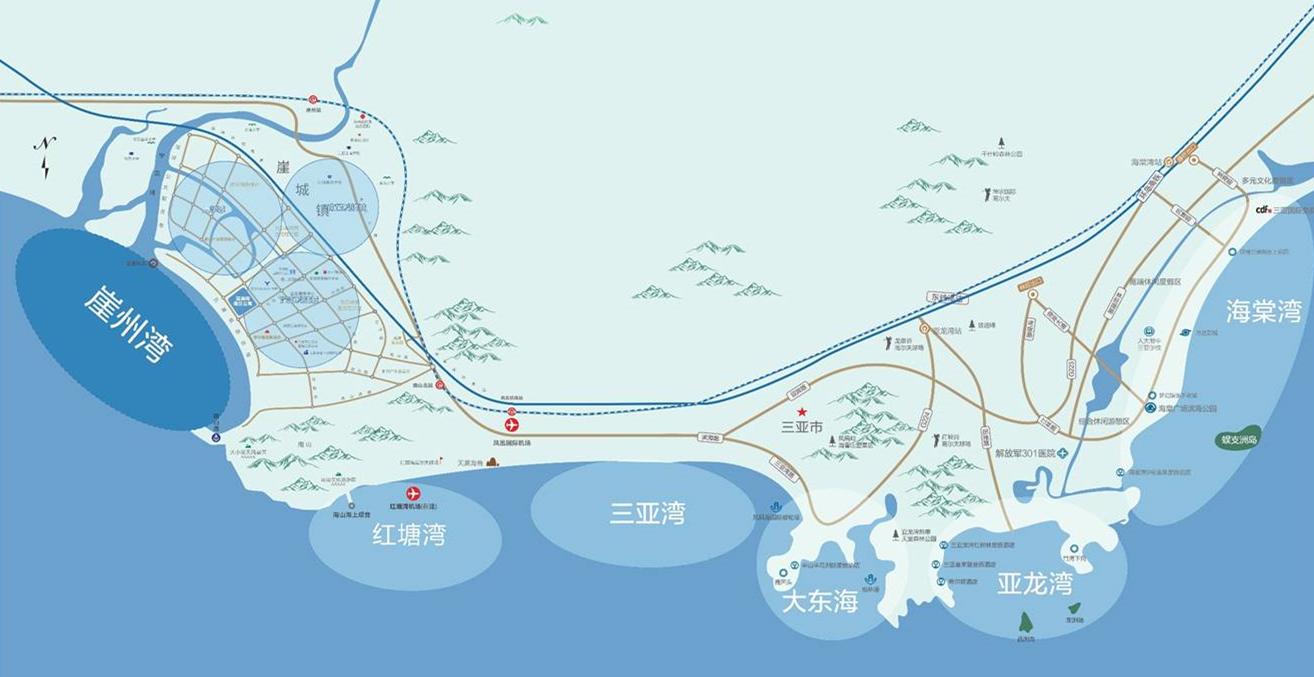 三亚璞海交通图