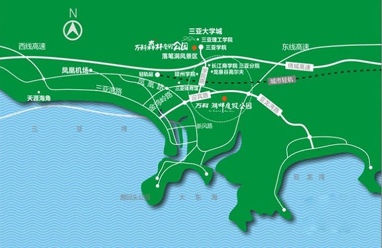 萬科湖畔度假公園交通圖