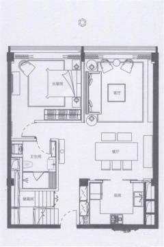 3室2厅3卫 建面 110㎡