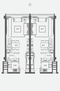 2室2厅2卫 建面100㎡