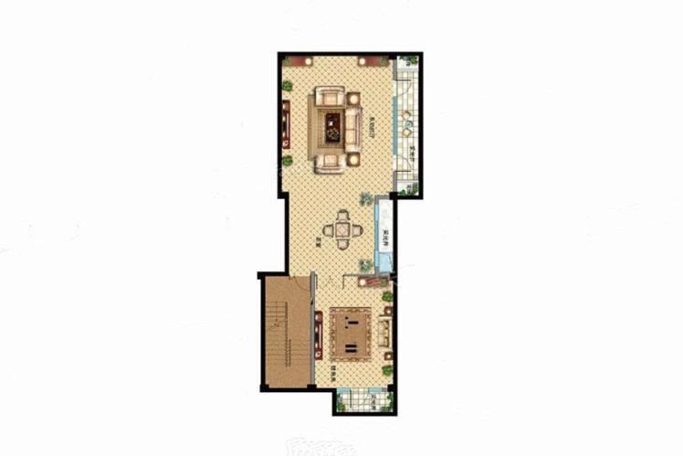 B户型 5室3厅4卫1厨 建筑面积:404.00㎡