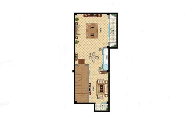 D户型 5室3厅4卫1厨 建筑面积:300.00㎡