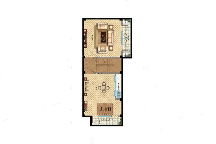 E户型 5室4厅4卫1厨 建筑面积:307.00㎡