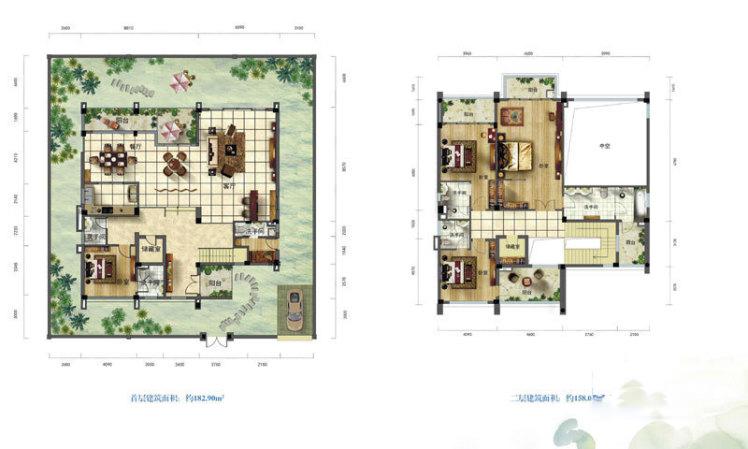 C3户型 4房2厅5卫 建面340.94㎡