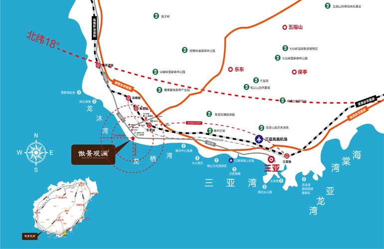 龙栖湾交通图