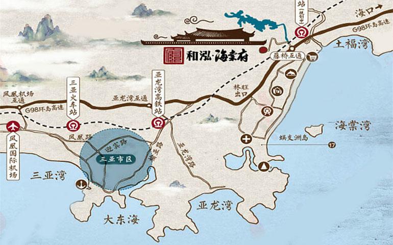 和泓海棠府交通图