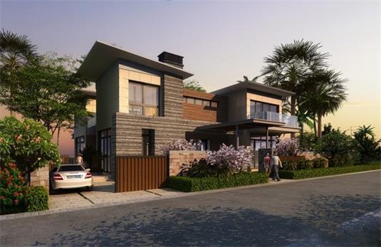 三亞亞龍灣水岸君悅規劃建有56棟獨棟別墅