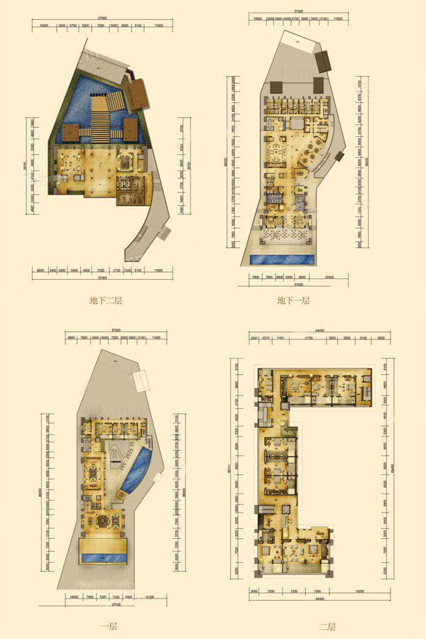 总统城堡户型 13室4厅4卫 建面1355.63㎡