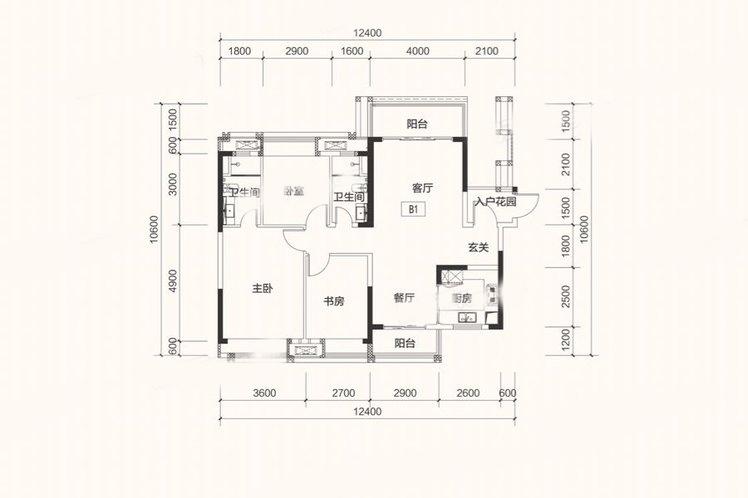 B1户型 3房2厅 建面:120㎡