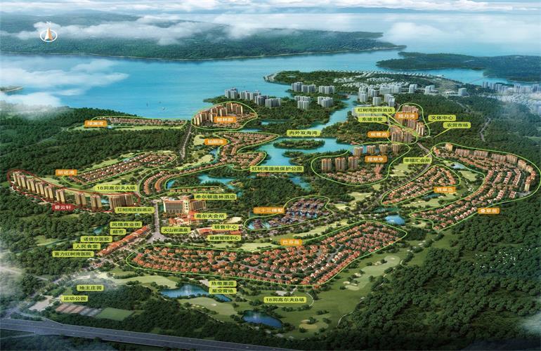 富力红树湾鸟瞰图
