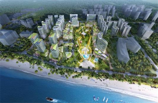 三亚万科海上大都会左岸三至四居景观美宅在售,均价43000元/㎡
