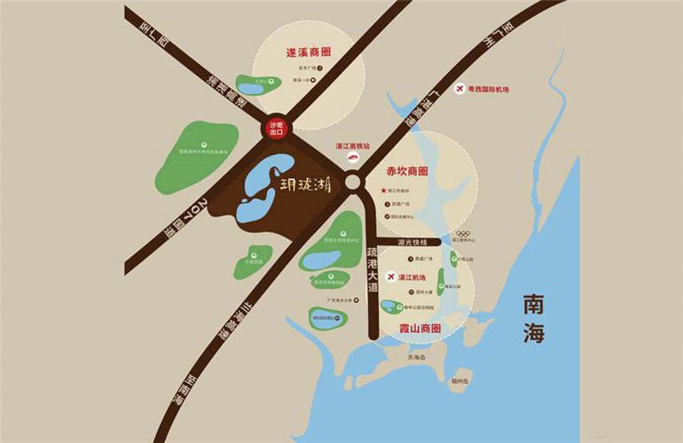 华邦玥珑湖交通图