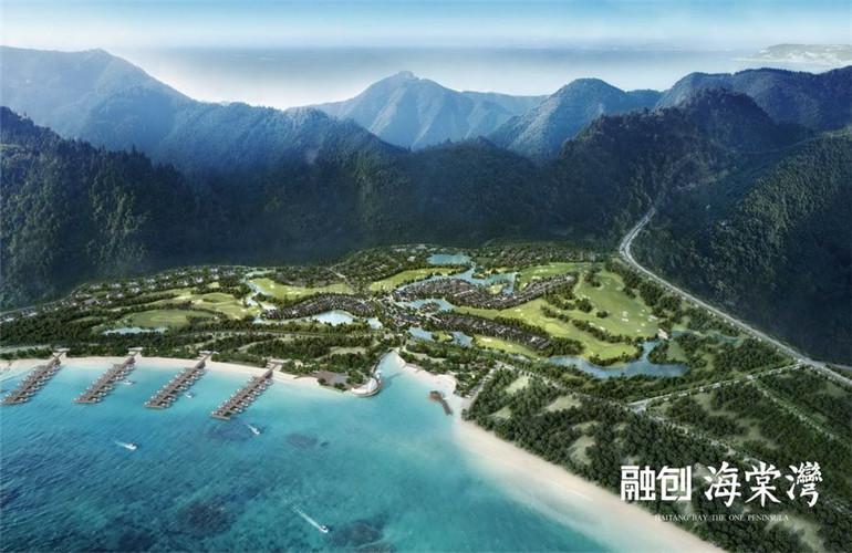融创海棠湾鸟瞰图