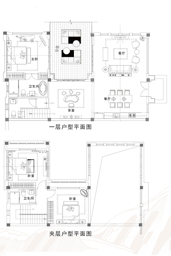 湖畔美墅B098户型 4房2厅3卫 建面108.83㎡