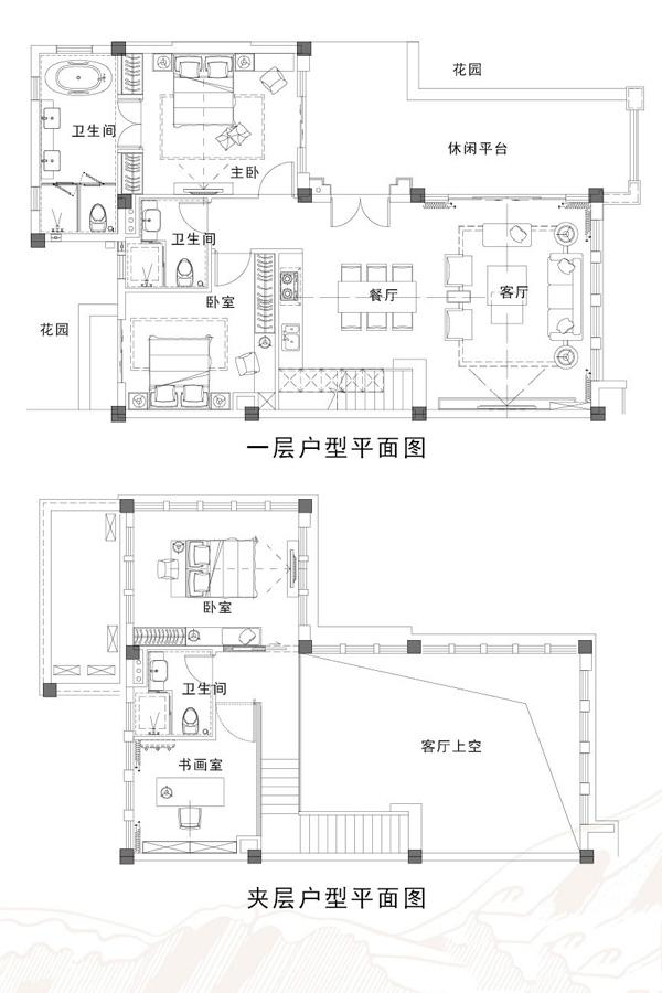 湖畔美墅L097户型 4房2厅3卫 建面97.62㎡