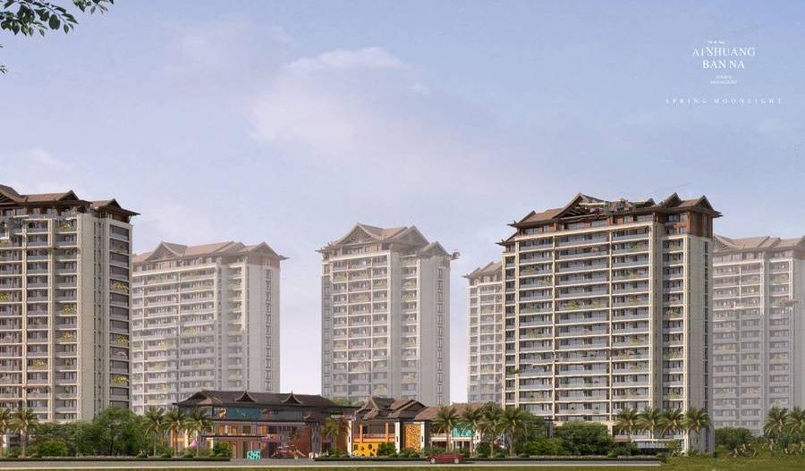 西双版纳 绿城春江明月项目建面48-104㎡1居-3居户型在售 均价12000元/㎡