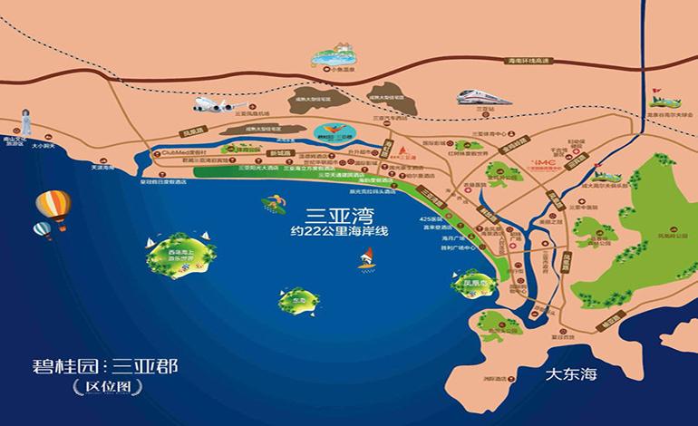 碧桂园三亚郡交通图