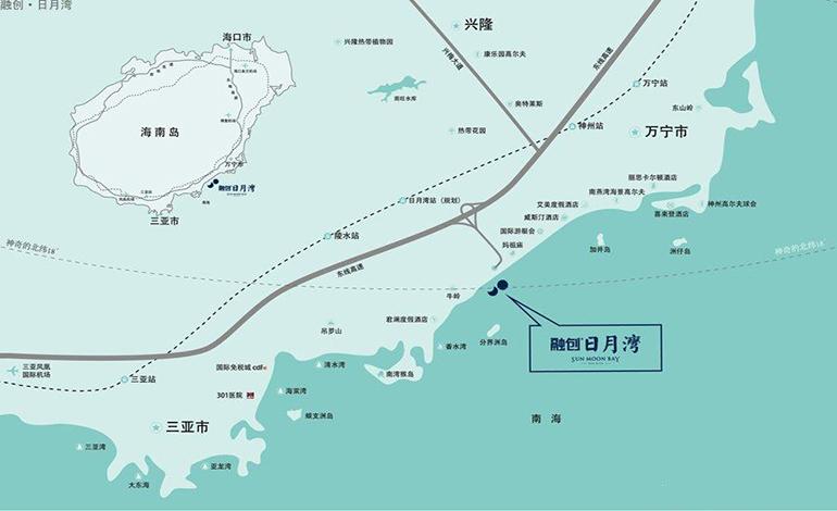 融創日月灣交通圖