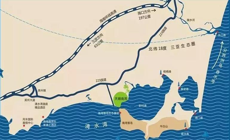 天赐南湾交通图