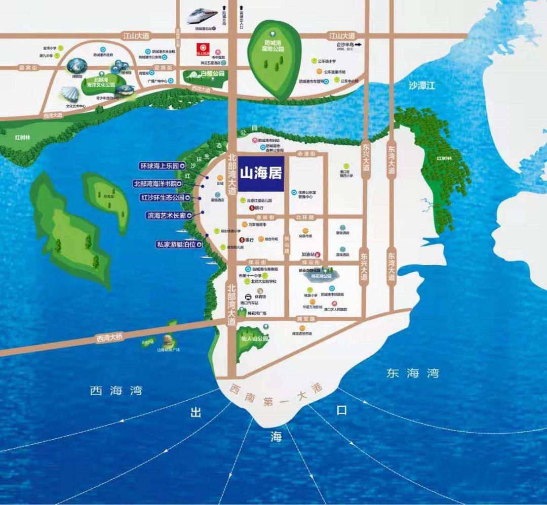 鹏轩山海居交通图