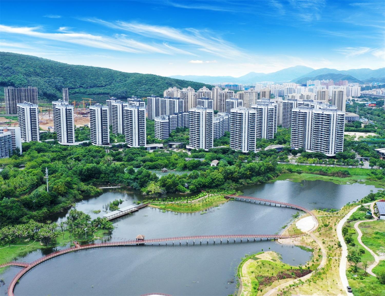 三亚一山湖实景图