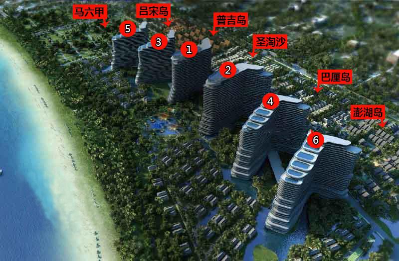 博鳌亚洲湾鸟瞰图